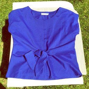 NWOT Royal Blue 💙 Front Tie Shirt